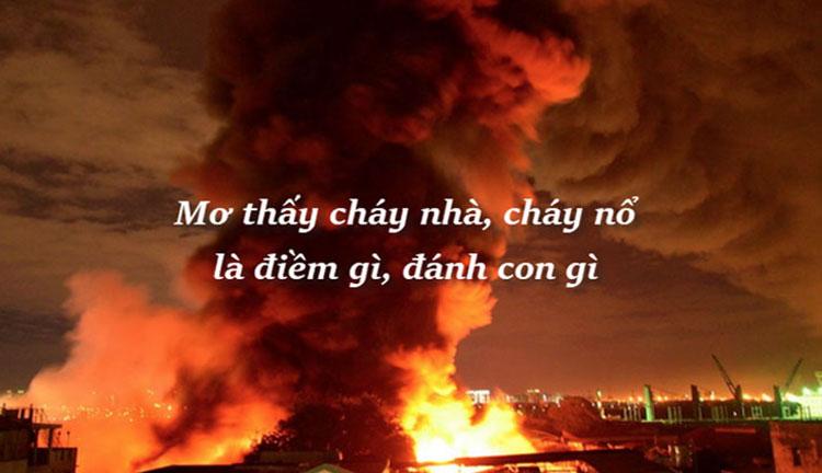 mơ thấy cháy nhà 1