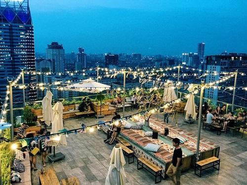 Cafe trên cao ở Sài Gòn