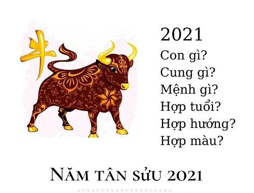 Năm 2021 mệnh gì